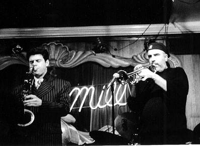 Frank Catalano et Randy Brecker © photo X, Collection Frank Catalano by courtesy