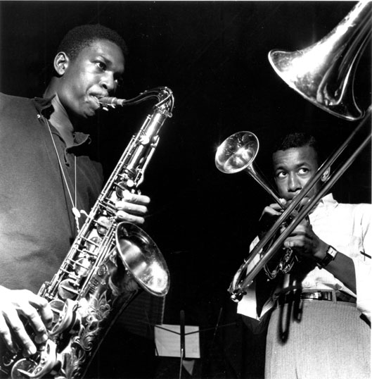 John Coltrane et Lee Morgan © Francis Wolff-Mosaic Images by courtesy of Blue Note