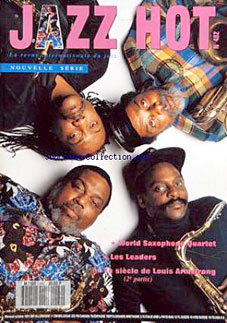 Arthur Blythe, David Murray, Oliver Lake et Julius Hemphill, The world Saxophone Quartet, Jazz Hot n°482, 1991