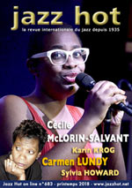 JAZZ HOT n°683, printemps 2018, Cécile McLorin Salvant et Carmen Lundy © David Sinclair