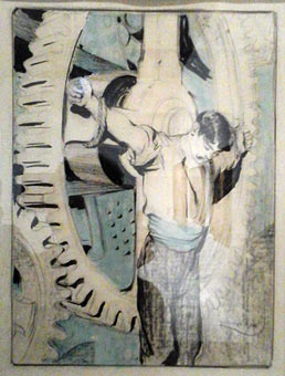 Ouvrier crucifié, par Kupka
