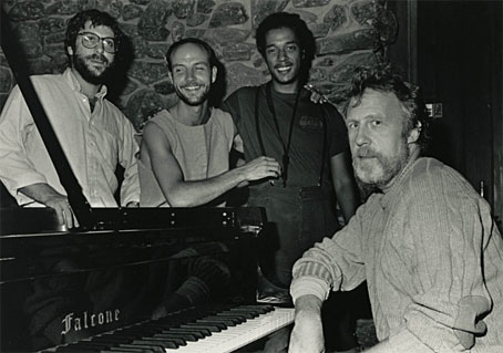 Ed Felson (b), Jon Hazilla (dm), Ricky Ford (s), Ran Blake, Photo X  © by courtesy, New England Conservatory Archives
