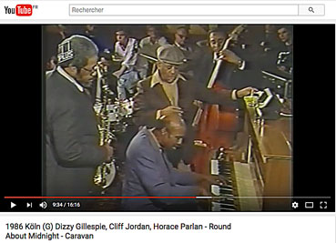 Clifford Jordan, Dizzy Gillespie, Horace Parlan et Reggie Johnson sur YouTube