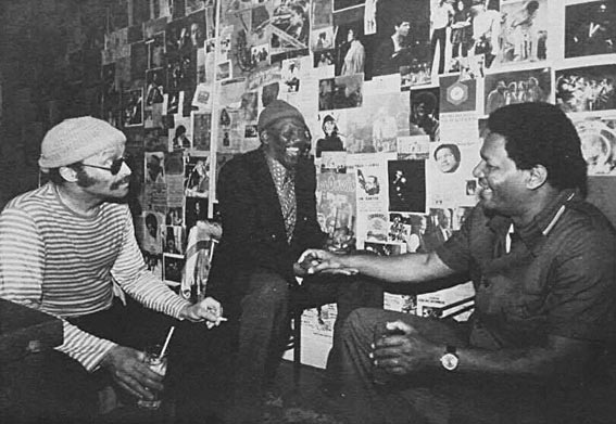 Cecil Taylor, Randy Weston and McCoy Tyner sharing stories in Todd Barkan's office at Keystone Korner in 1978 © photo X by courtesy of Todd Barkan