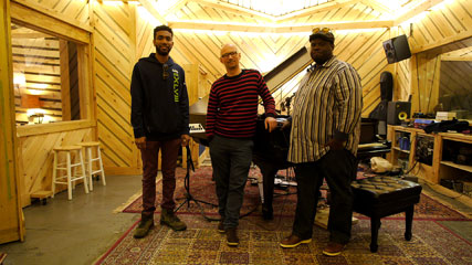 Joshua Crumbly, Laurent Coq, Johnathan Blake, novembre 2016 © photo X by courtesy of Laurent Coq