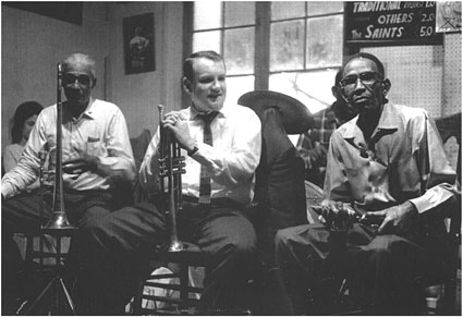 Louis Nelson, Keith Smith, George Lewis, New Orleans 1965 ©photo X by courtesy of Keith Smith