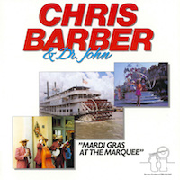 1983. Chis Barber & Dr John. Mardi Gras at The Marquee