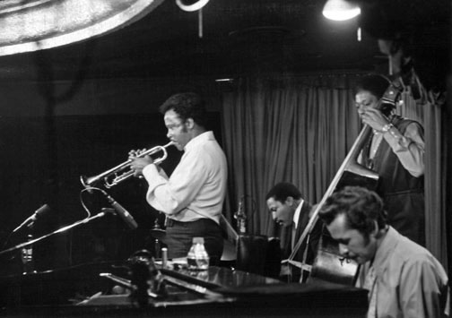 Harry Sweets Edison at Memory Lane Steak House, Los Angeles, 1970, Harry Sweets Edison (tp), Hampton Hawes (p), Leroy Vinnegar (b), Bobby Thompson (dm) © Ray Avery/CTSIMAGES