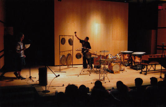 Warren Smith, solo concert, University of Massachusetts, Amherst, c. 1990 © photo X by courtesy of Warren Smith