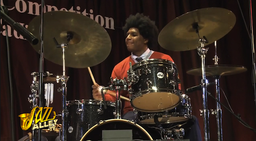 Justin Brown at the Thelonious Monk Competition Concert (2012, Jazz Alley's video)