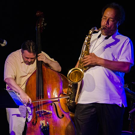 Gilles Naturel et Ricky Ford, Toucy Jazz Festival 2014 © Mathieu Perez