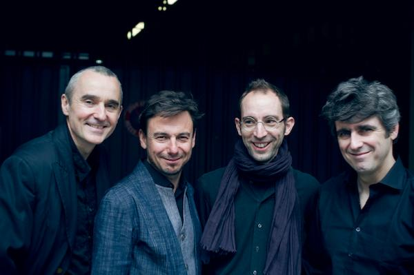 Old and New Songs: Christophe Marguet (dm), Yoann Loustalot (tp, flh), François Chensel (p), Frédéric Chiffoleau (b) © Baptiste Millot by courtesy of Yoann Loustalot