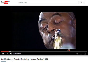 Archie Shepp et Horace Parlan «Steam» sur YouTube