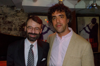 Rossano Sportiello et Spike Wilner, at Mezzrow, New York, 2014 © Mathieu Perez