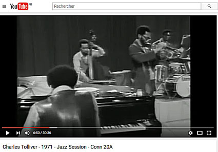 1971. Music Inc. Charles Tolliver, Stanley Cowell, Wayne Dockery et Alvin Queen. Jazz Session/real. Marc Pavaux. Cliquer > YouTube