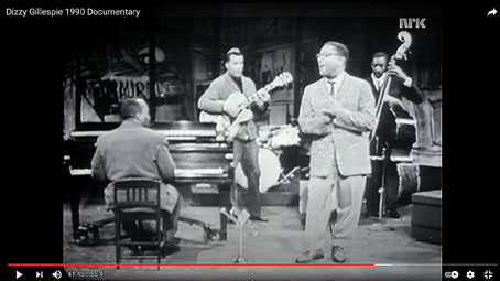 1959, Documentaire sur Dizzy-Gillespie, en quintet avec Junior Mance © YouTube