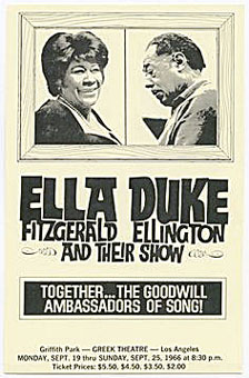 1966. Ella Fitzgerald & Duke Ellington, Los Angeles