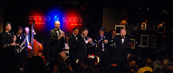 Chris Barber Band, au Ronnie Scott's, 2013 © photo X by courtesy of Wigt International | Wigt Productions Ltd