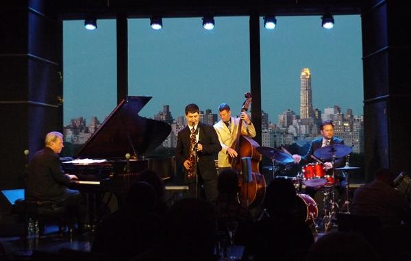 David Hazeltine (p), Dmitry Baevky (as), John Webber (b), Joe Strasser (dm), Dizzy's Club, Jazz at Lincoln Center, 2013 © Marina Chassé, by courtesy