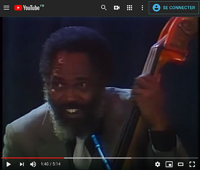 Cleve Eaton au sein du Count Basie Big Band, Live in Europe 1981 © YouTube