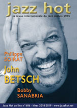 Jazz Hot n°686, couverture: John Betsch © Jacky Lepage
