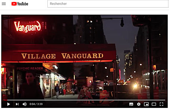 The Village Vanguard, YouTube