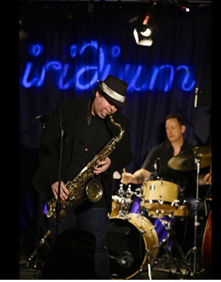 Frank Catalano et Jimmy Chamberlain à l'Iridium, New York © photo X, Collection Frank Catalano by courtesy