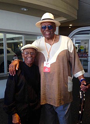 Jimmy Heath et Randy Weston, two giants of jazz © PhotoX, by courtesy of Jimmy Heath (envoyé lors du décès de Randy Weston)