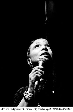 Dee Dee Bridgewater at Festival Hall, London, April 1992 © David Sinclair